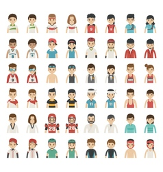 Set of sport characters eps10 format vector image vector image