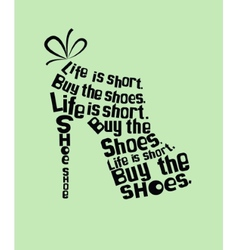 Shoe from quotes vector image vector image
