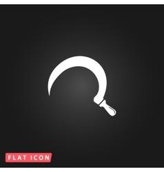 Sickles flat icon vector