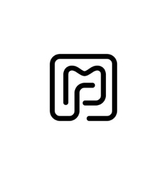 Sign of the letter M and P vector image vector image