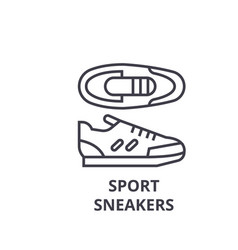 sport sneakers line icon outline sign linear vector image vector image