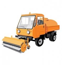 street sweeper vector image vector image