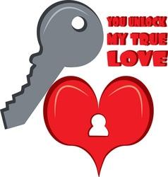 Unlock My True Love vector image vector image