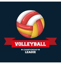 Volleyball sport emblem icon vector
