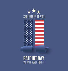 Abstract patriot day background vector