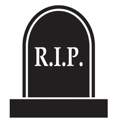 Graveyard rip icon vector