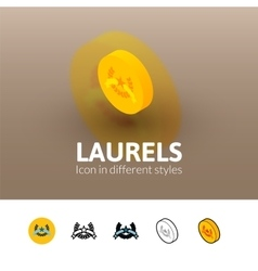 Laurels icon in different style vector image