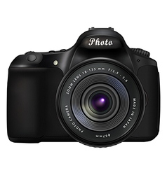Digital SLR photo camera vector image