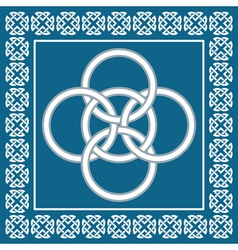 Celtic five fold knot symbolizes four elements vector