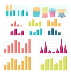 Set of infographic diagram elements for design vector image