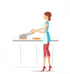 Female cook vector