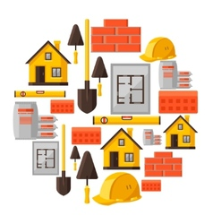 Industrial background design with housing vector image
