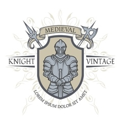 The emblem of the middle ages vector