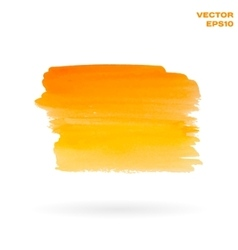Orange and yellow watercolor hand painted shape vector image