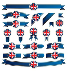 Uk ribbons vector