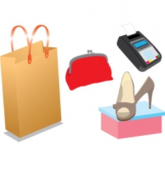 shopping items vector image