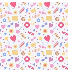 Seamless pattern with sweets confectionery vector