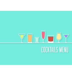 Cocktails menu vector