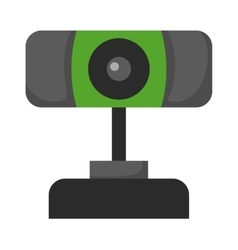 Web camera icon isolated on a white background vector