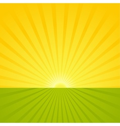 Sunrise scene vector