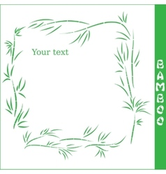 Bamboo square frame vector