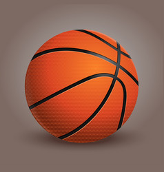 basketball ball isolated on background realistic vector image vector image