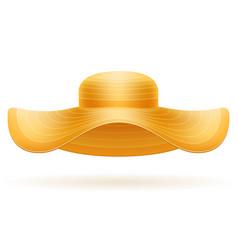 beach hat for women stock vector image