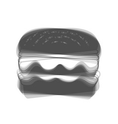 Burger simple sign gray icon shaked at vector