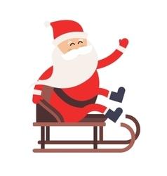 Cartoon Santa Claus driver sled delivery vector image