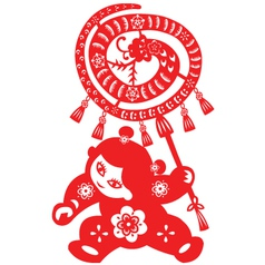 Chinese New Year Snake vector image vector image