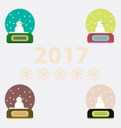 Collection of merry christmas vector
