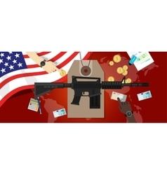 Cost of war conflict economics gun control vector