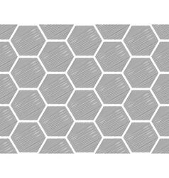 Design seamless monochrome hexagon pattern vector image