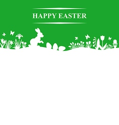 Easter field green vector