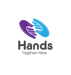 Family hands care logo vector