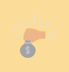 Flat icon stylish background poker money bag vector