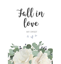 floral card design garden white powder peony vector image