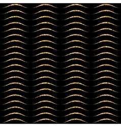 Gold wave seamless pattern black 2 vector image vector image