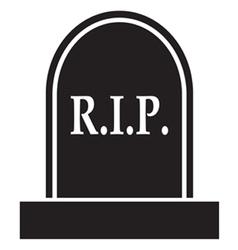 Graveyard rip icon vector