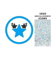 Hit parade rounded icon with 1000 bonus icons vector