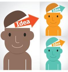 Idea man vector