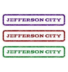 jefferson city watermark stamp vector image