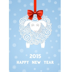 New Years Sheep vector image vector image