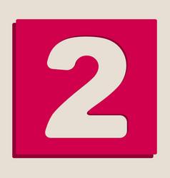 Number 2 sign design template elements vector