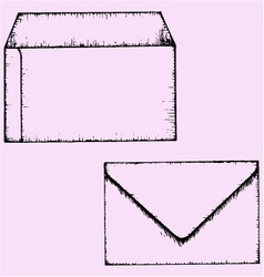 open closed envelope vector image