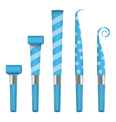 party horn blower blue party blower sign vector image