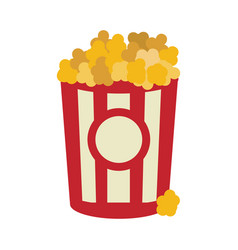 popcorn food in the cinema movie eat vector image vector image