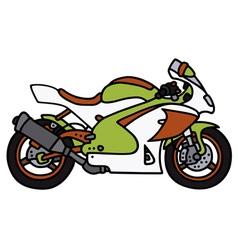 Racing motorbike vector