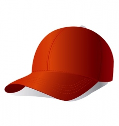 red cap vector image