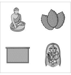 Religion beekeeping and other monochrome icon in vector